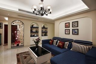 126平地中海风格装修客厅效果图