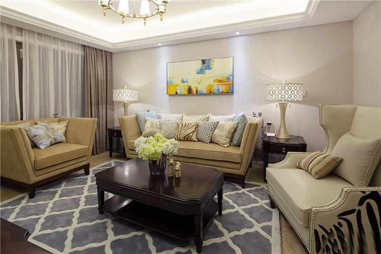 优雅欧式客厅装潢效果图