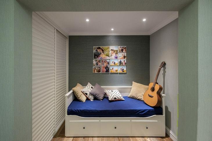 清爽简洁美式装修沙发床设计
