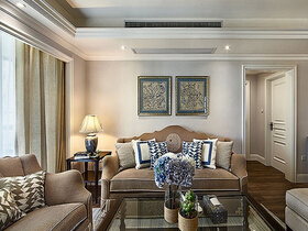 美式风格三房两厅装修 浅咖色的稳重与魅力