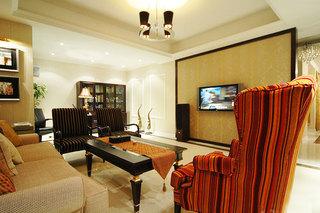120平欧式风格客厅效果图