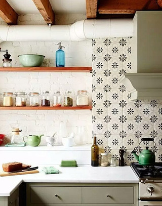 厨房花瓷砖装饰效果图