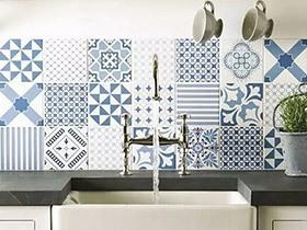 12个厨房花瓷砖背景墙图片 展现花样诱惑