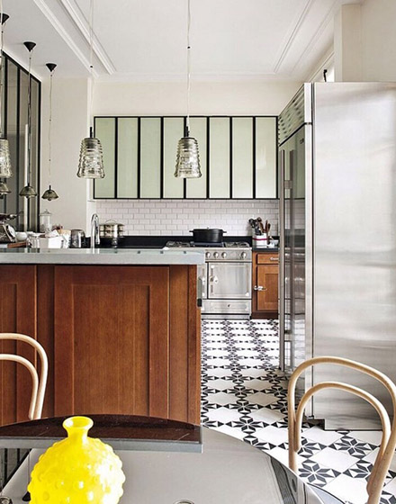 厨房地板花样瓷砖地板图片