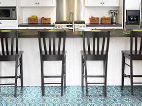小花磚炫動廚房 11個廚房地板磚效果圖