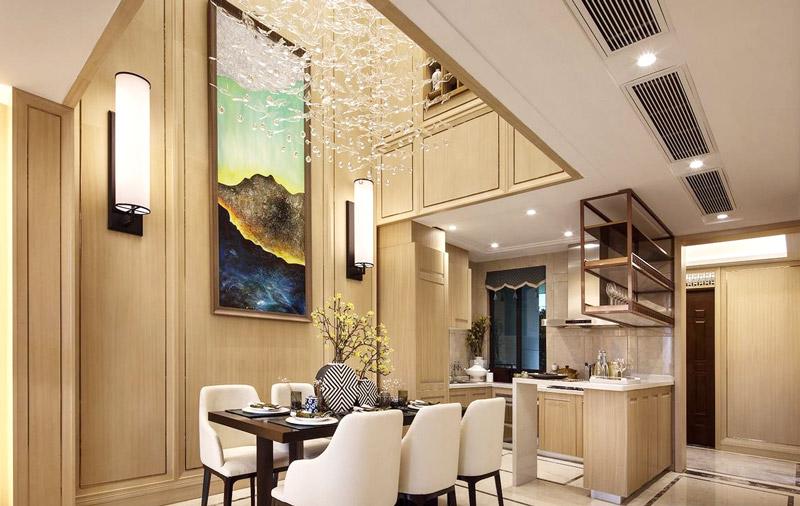 344平米豪华别墅餐厅装潢图