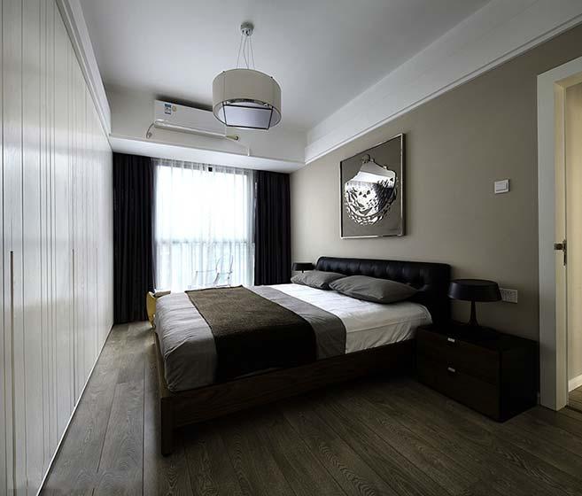 极简卧室设计实景图片极简卧室