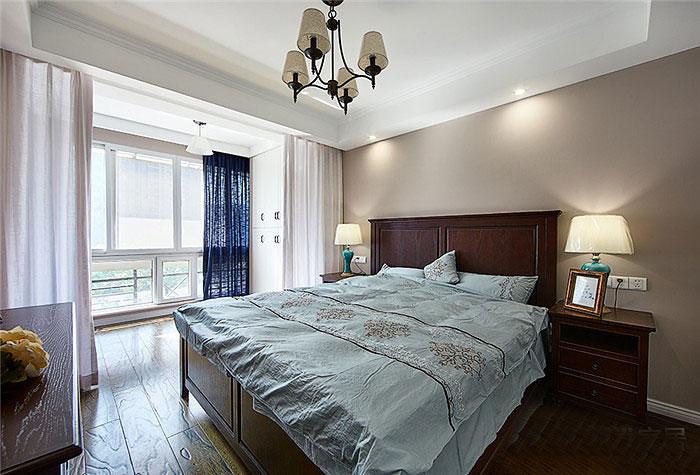 80平两室美式风格装修卧室效果图