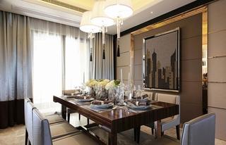 三室两厅现代简约装修餐厅效果图