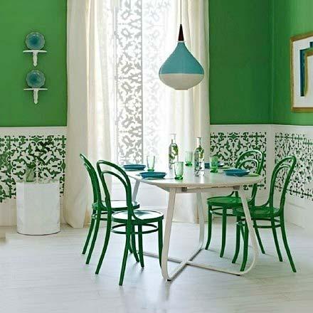 绿色餐厅设计装修图