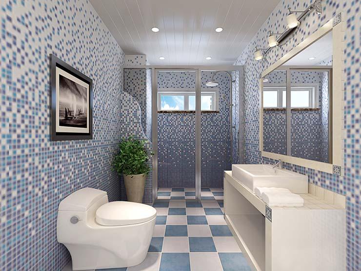 蓝色系卫生间设计效果图