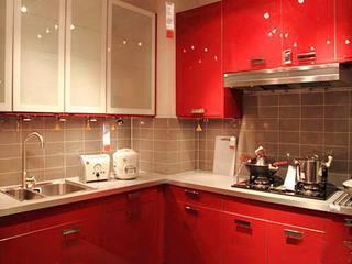 红色系厨房设计图