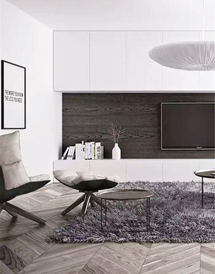 简约客厅电视背景墙装修图
