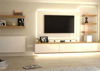 简洁客厅电视柜设计图片