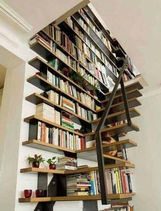 楼梯收纳书架设计图