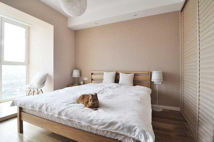 120平日式装修风格卧室设计