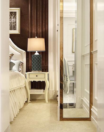 85平欧式风格两居室卧室穿衣镜图片
