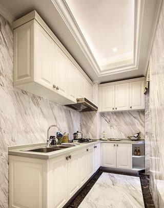 85平欧式风格两居室厨房装修设计图