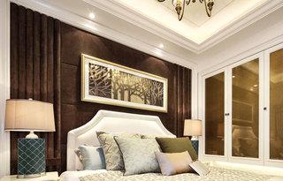 85平欧式风格两居室卧室装修装潢图