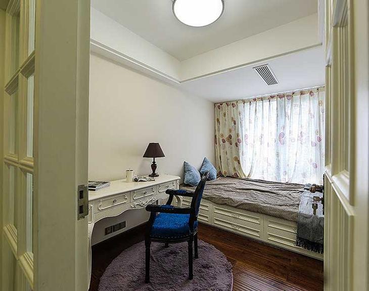 130平简欧风格装修简约卧室