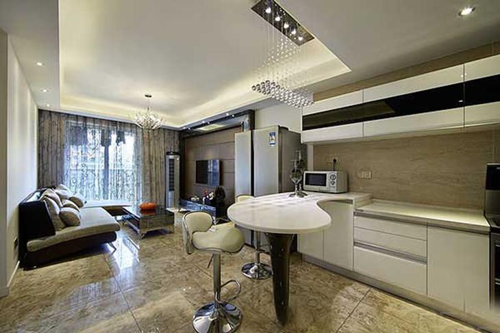 130平简约风装修时尚厨房设计