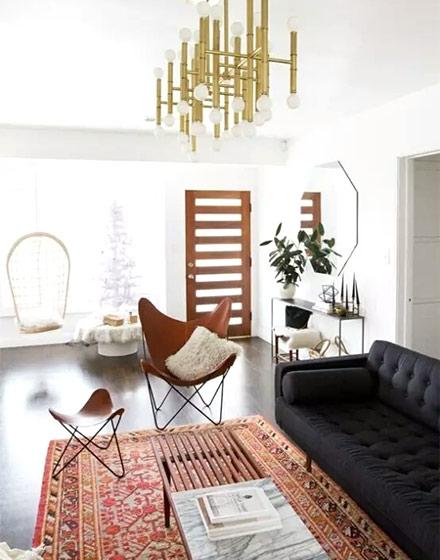 异域风情客厅地毯设计