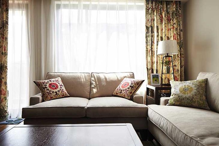 131平装修布艺沙发布置图