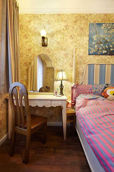 90平田园风小户型卧室设计
