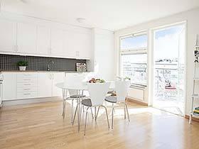极简之美  10款开放式厨房装修装饰效果图