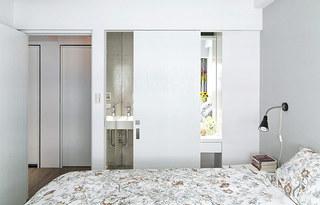 70平北欧风格主卧室装潢图