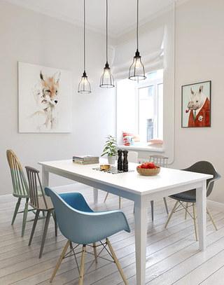 小户型北欧简约公寓餐厅装潢图