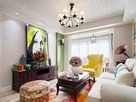 80㎡两居室装修设计图 波普好风情