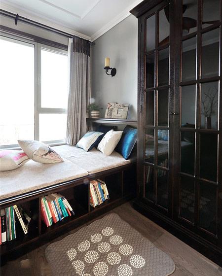 休闲美式榻榻米书房设计