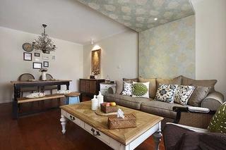 三室两厅美式乡村装修客厅效果图