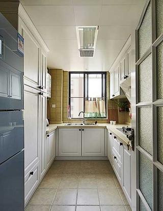 三室两厅美式乡村装修厨房效果图