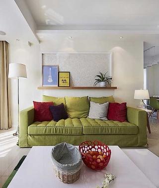 三室两厅现代装修风格布艺沙发