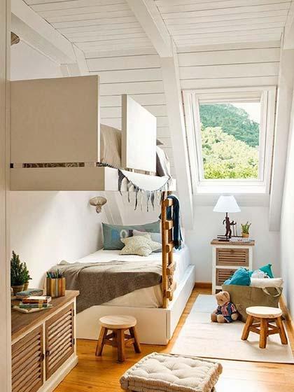 卧室整体空间收纳布置摆放图