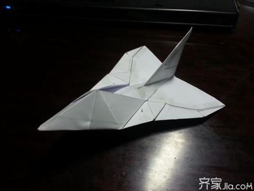 滑翔纸飞机的折法