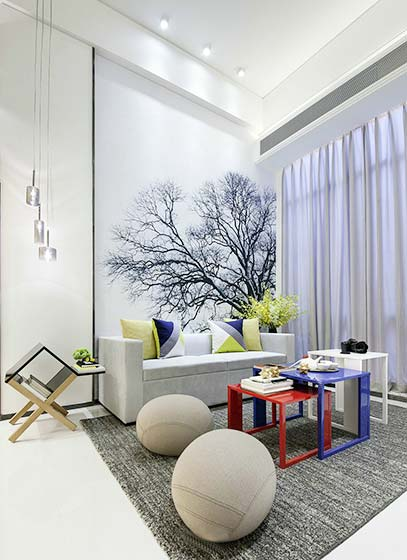 豪华后现代客厅装修效果图