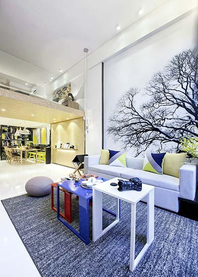 现代客厅设计实景图片