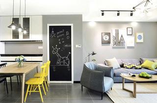 85平北欧现代两居室装修效果图