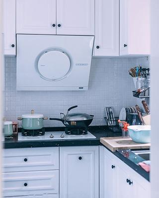 87平北欧风格三居室厨房装潢设计图