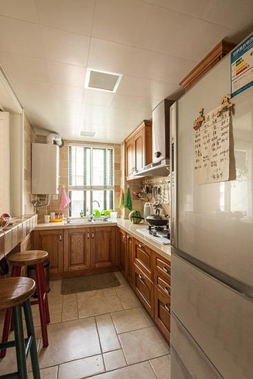 乡村美式厨房 实木橱柜装饰大全