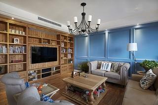 150平简欧小复式装修客厅效果图