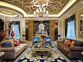 660㎡中式古典别墅样板房效果图   文化的混搭