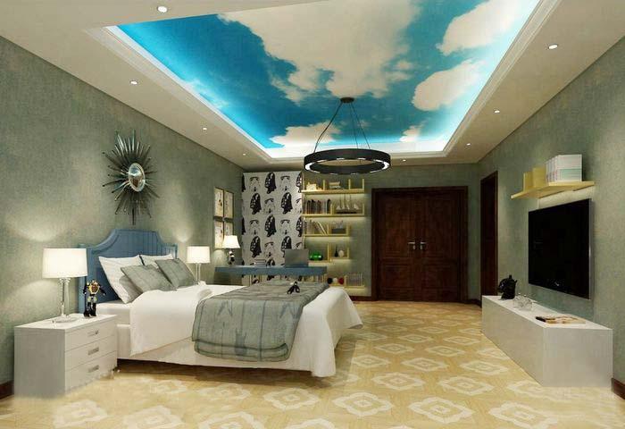 卧室创意吊顶装修效果图