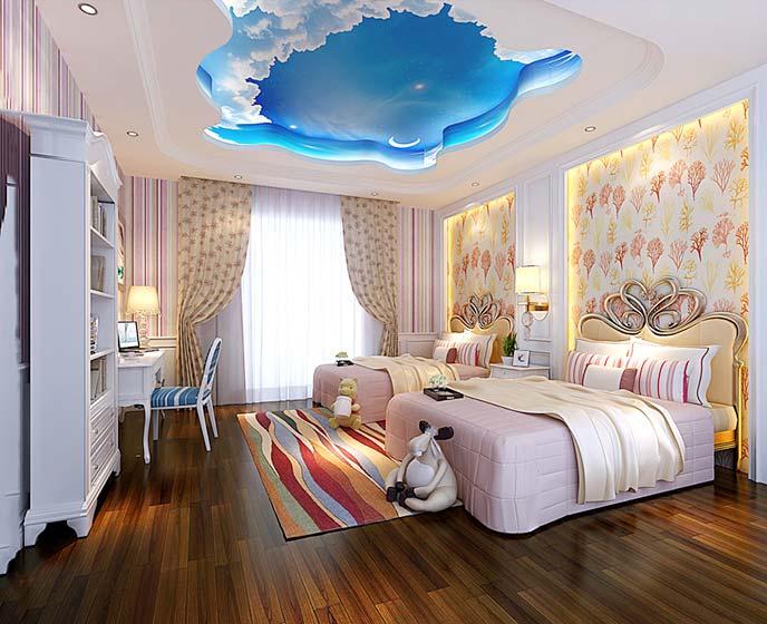 卧室创意吊顶装饰图片