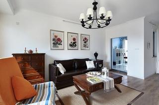 130平温馨简约风格装修客厅效果图