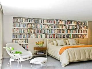 卧室书架背景墙图片大全
