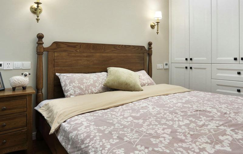 现代美式风格三居室次卧装修图